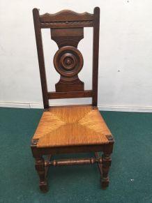 Chaise bretonne en bois massif