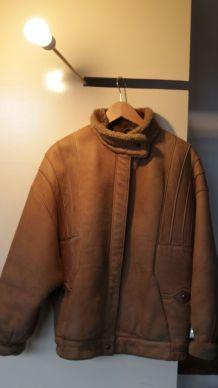 Manteau cuir H/F L/M