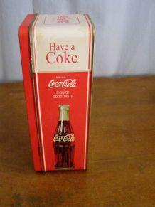 """Vintage: Boite métal en forme de frigo """"Coca Cola"""""""