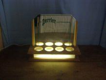 "Vintage: petite enseigne lumineuse ""Perrier""  porte canettes"