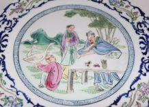 Assiette en porcelaine émaillée Chine