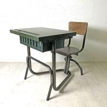 Bureau d'enfant vintage 50's métal et Bakelite