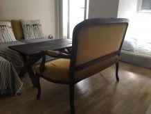 Ancien canapé bois