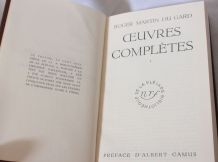 Livre La pléiade, Roger-Martin du Gard, œuvres complètes Tom