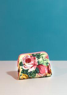 Magnifique petit porte monnaie fleuris