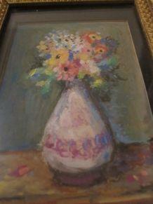 petit cadre peinture pot fleurs