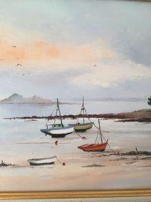 Peinture sur toile vue mer