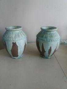 Une paire de vases Greber