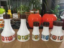 Set condiments arcopal vintage