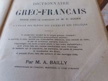 Dictionnaire ancien grec/français de M A BAILLY