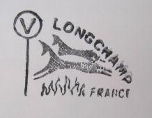 service à poisson ancien en faïence de longchamp