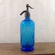 Siphon de bistrot  bleu années 1920/30