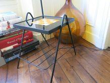 Lampadaire porte revue 60s 70s métal & céramique RARE