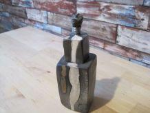 Petite sculpture en raku de style afriquaine piece unique