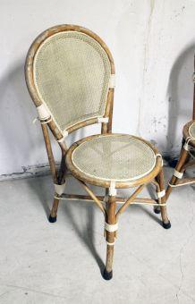Lot de 10 Chaises bistrot vintage dans leur jus