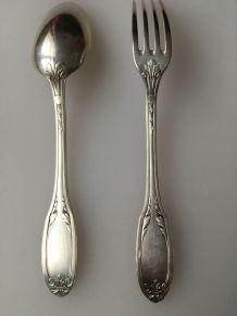 Couverts enfant 1925 en métal argenté