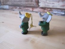 2 jouets petits 'BABAR'année 1970/1980 vintage BABAR