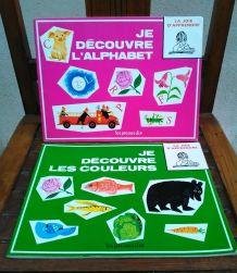 Deux jolis livres d'apprentissage pour enfants- Années 70