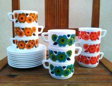 Service à café arcopal - collection Lotus