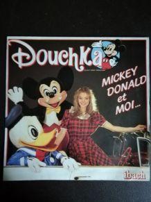 Vinyle 45 tours Douchka Mickey Donald et moi 1984