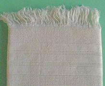 Anciennes serviettes de toilette nid d'abeille