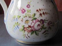 Grande cruche ancienne  porcelaine américaine - Décor main