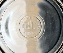 7 bols anciens en verre Duralex France vintage 1960/1970