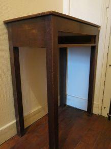 Petit meuble de métiers en bois à compartiments circa 1950