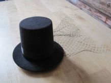 Chapeau femme bibi voilette noire