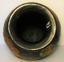 Vase artisanal céramique poterie grès peint main