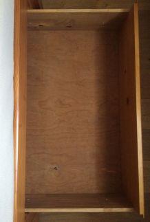 Cadre de lit 140x190 avec 4 tiroirs en pin massif