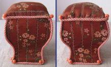 Boîte - A couture ancienne en tissu et carton