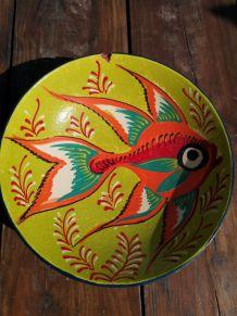 Assiette colorée poisson