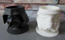 2 coquetiers Star Wars en silicone