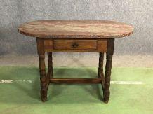 Table à découper en chêne, dessus plaque de granit