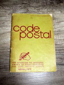 Livret Code Postal édition 1972