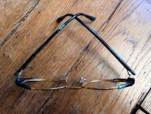 Monture Lunettes VINTAGE Metal Doré Acetate Vert-Bourgeois