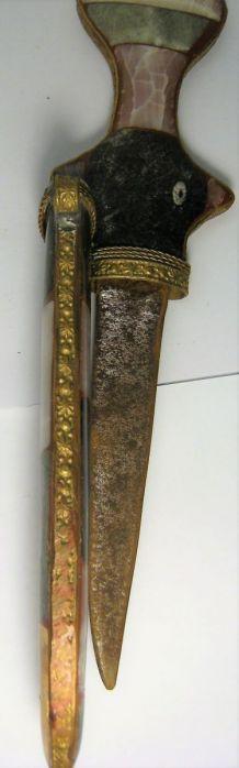 Dague décorative marocaine sertissage pierres