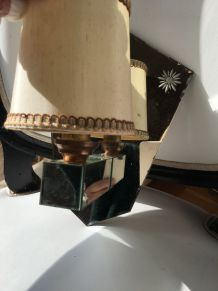 Paire d appliques art déco en miroir vénitien
