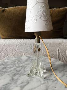 Lampe chevet vintage en cristal