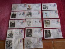 14 cartes commémoratives De Gaulle