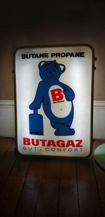 Enseigne publicitaire lumineuse vintage BUTAGAZ