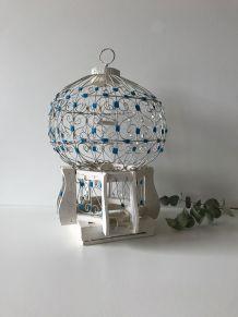 Petite cage à oiseaux décorative