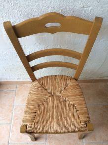 Lot de 4 chaises paillées en hêtre massif