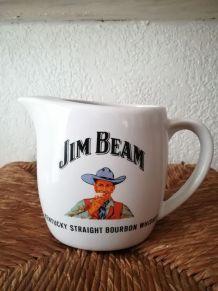 Pichet publicitaire blanc Jim Beam
