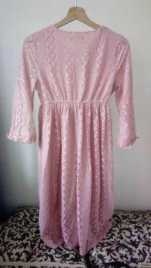 robe rose pale