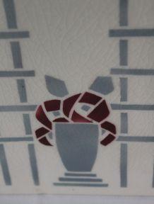 Grand vase Art Déco K&G Lunéville vers 1920