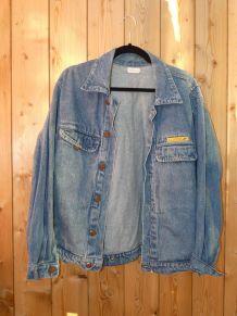 1970s La Poste  veste en jean vintage