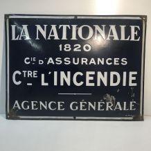 Plaque émaillée LA NATIONALE 1820