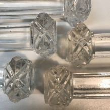 12 Portes couteaux en cristal, 19 ème siècle